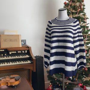 A Pea in the Pod Blue & Cream Striped Sweater, XS